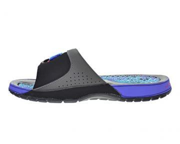 Nike boys JORDAN HYDRO XII RETRO BG 5Y WOLF GREY//UNIVERSITY BLUE-MIDNIGHT NAVY