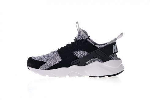 Nike Air Huarache Ultra Flyknit ID Light Grey Black White AH6758 ...
