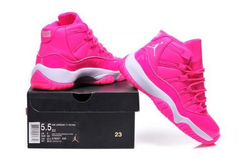 Nike Air Jordan Retro XI 11 Pink White Women Shoes 378038 - SepStep