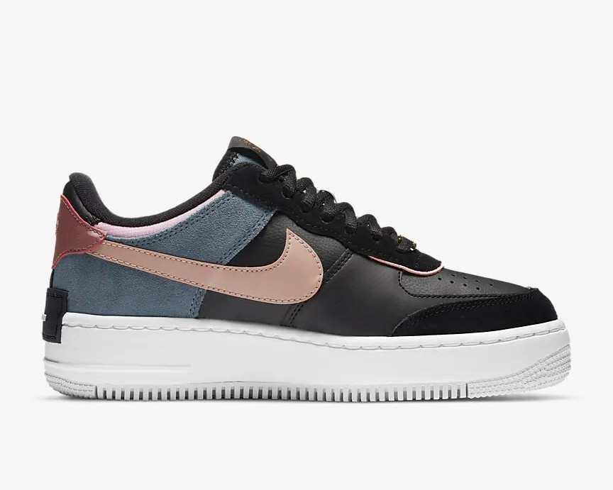 Nike Wmns Air Force 1 Shadow Black Light Arctic Pink Cu5315 001 Sepstep Кроссовки nike air force 1 betrue. nike wmns air force 1 shadow black light arctic pink cu5315 001